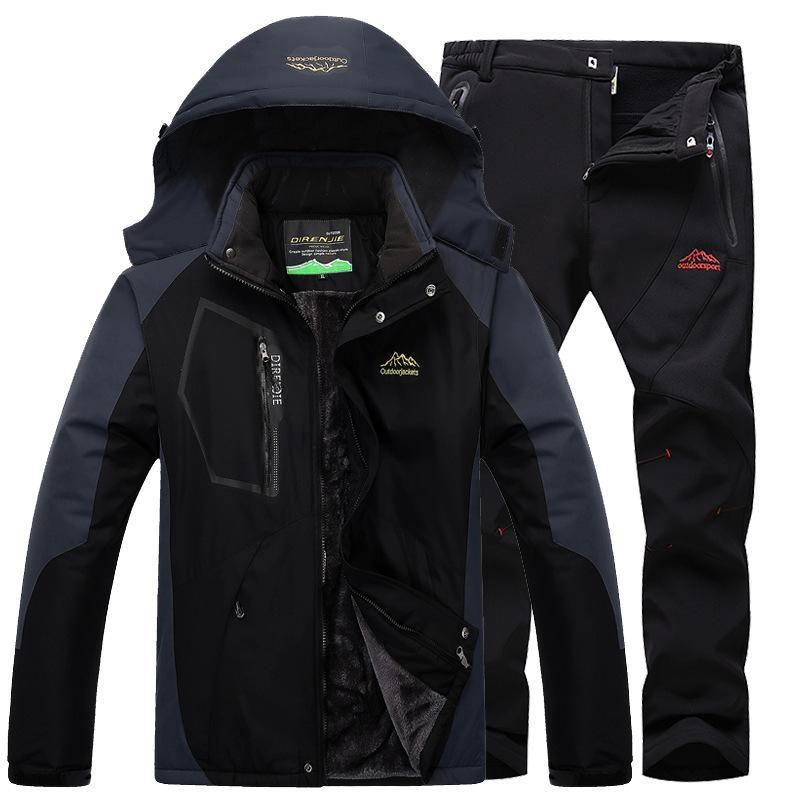 2019 Ski Suit Ski Suit Men Skiing And Snowboarding Sets Super Warm  Waterproof Windproof Fleece Jacket+Pant Winter Snow Male From Bluelike 1f9a7dea1