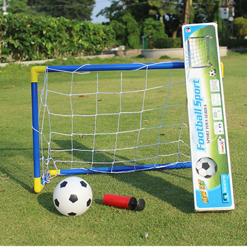 Compre 60 Cm Mini Balón De Fútbol De Fútbol Goal Folding Post Net Set +  Pump Kids Sport Juegos De Interior Juegos Al Aire Libre Niños Cumpleaños  Regalo De ... 1a93d535a6234