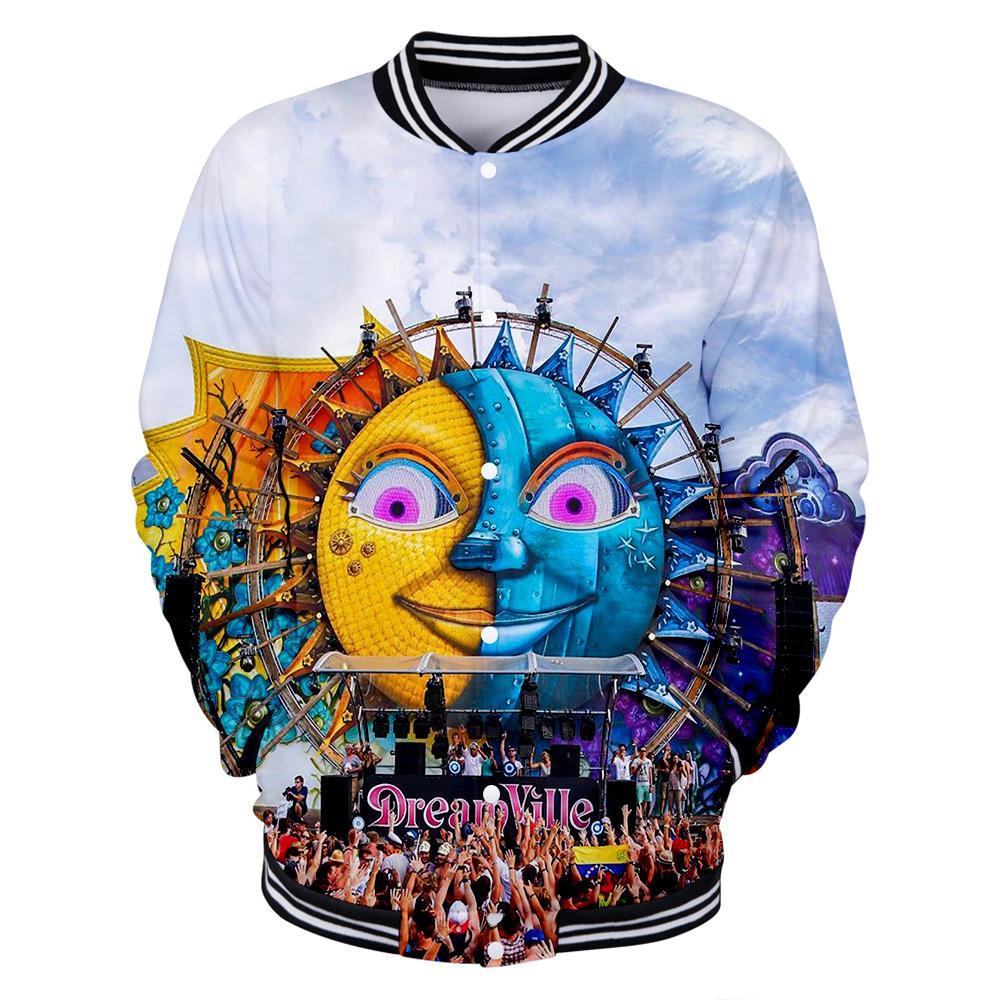 2019 New Electronic music festival Tomorrowland 3D Baseball uniform  Men/Women Hip hop Harajuku Baseball Jackets hot sale clothes