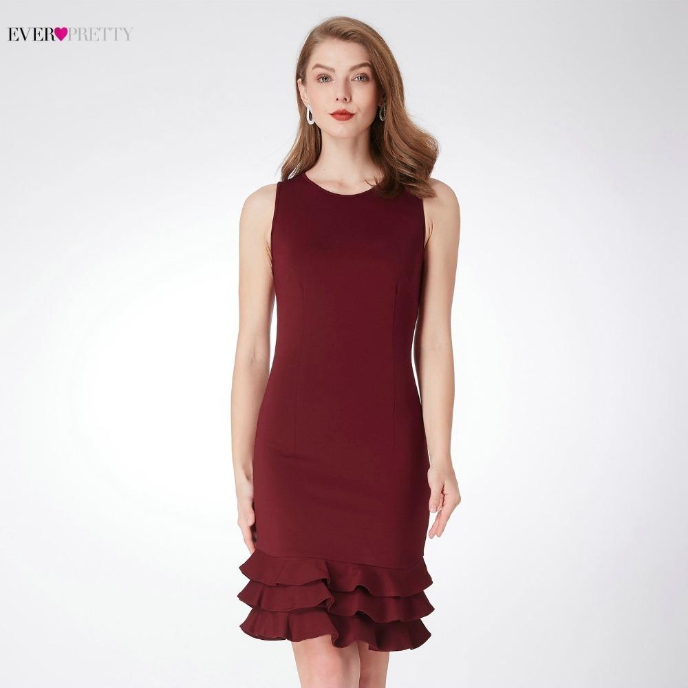 3a94992b931 Ever Pretty Women S Cocktail Dresses 2018 AS04029BD Modern Short Burgundy  Graduation Party Dresses For Homecoming Kurze Kleider Green And White Dress  For ...