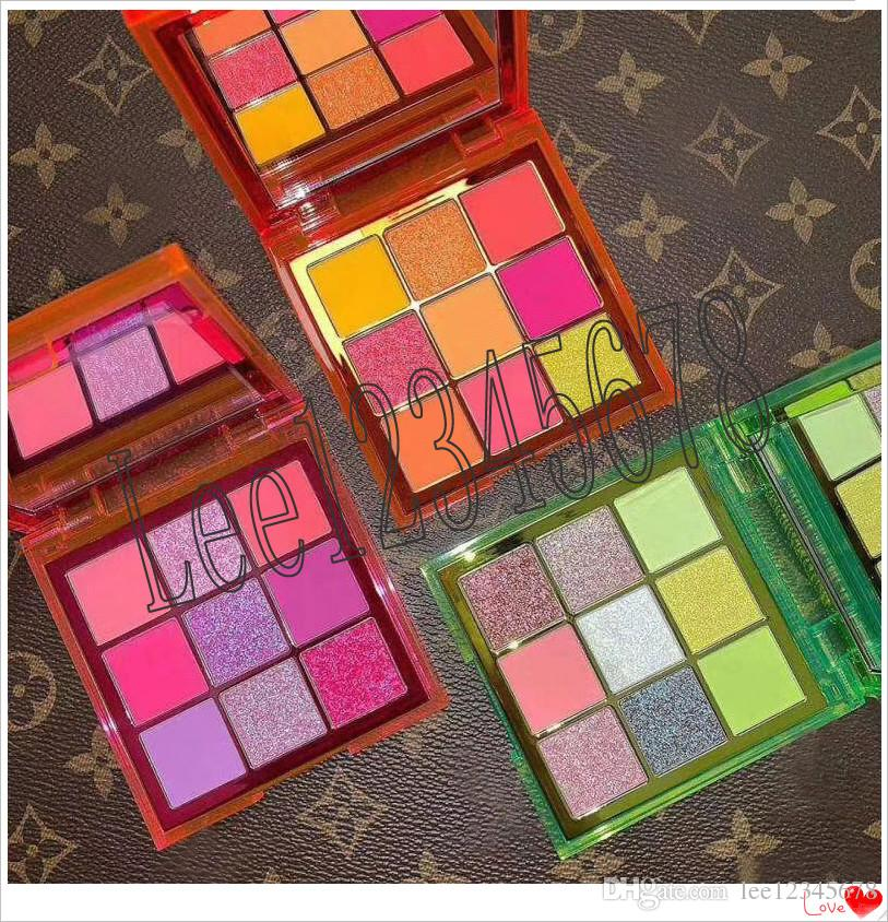 Hot Beauty Brand NEON 9 Colors Shimmer Eyeshadow Make up Eyeshadow with 3 Styles and high quality