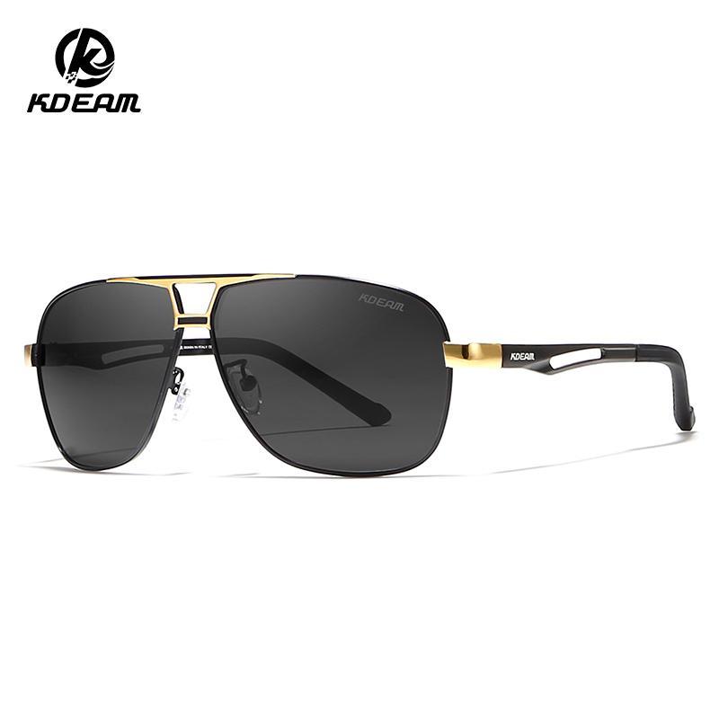 85a1f58600 KDEAM Polarized Men Sunglasses HD Beach Shades Full UV Protection ...