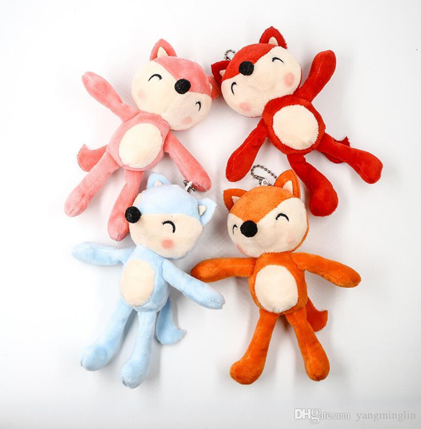 Cute fox plush toy bag pendant car keychain mini grab machine doll activity small gift baby Plush toys gift Stuffed & Plush Animals