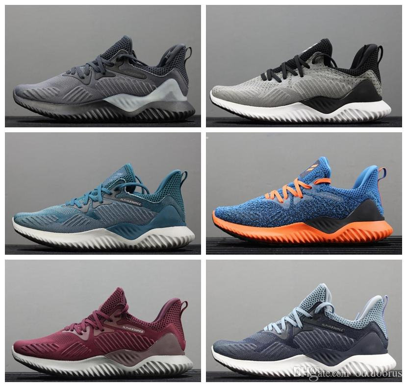 ADIDAS 2019 Nouvelle marque vente chaude Alphabounce EM 330 Casual chaussures Alpha bounce Hpc Ams 3 M Sports Trainer Sneakers Homme Chaussures