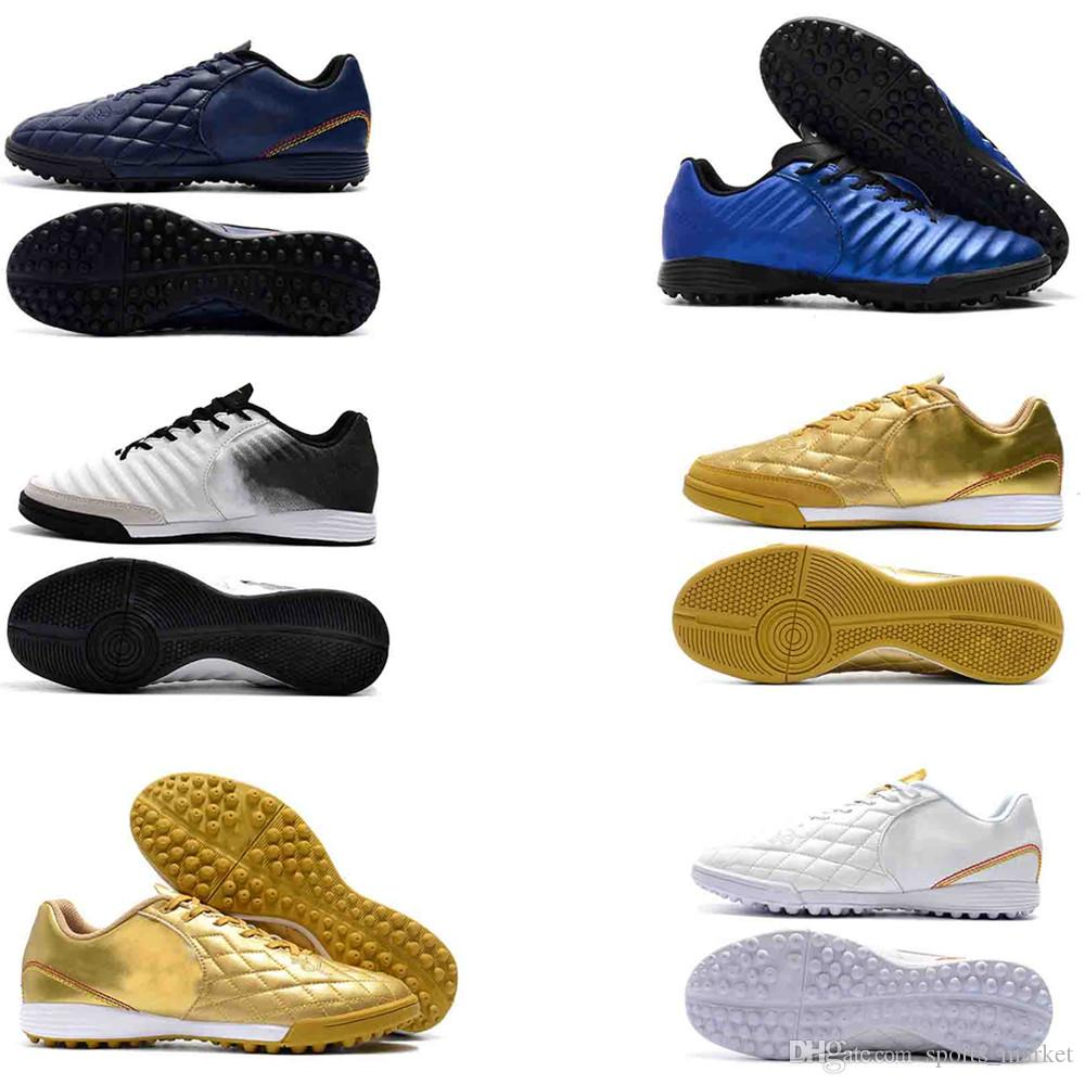 d31ef9c34bd1 New Original Mens Leather Soccer Boots Tiempo Ligera IV TF IC Indoor ...