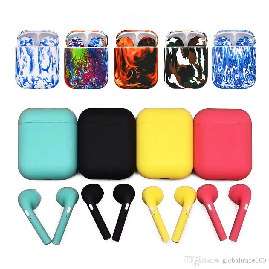 New i9S Tws Wireless Bluetooth 5.0 Earbuds Colorful mini Earphone Stereo Headphones Sports Headset For Apple iOS Samsung all Andriod Phone