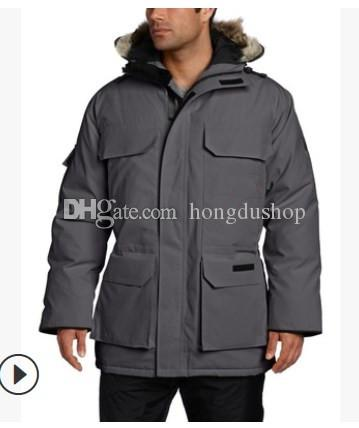 19 winter new down jacket high quality wind men's long hooded thick warm loose goose down jacket coat