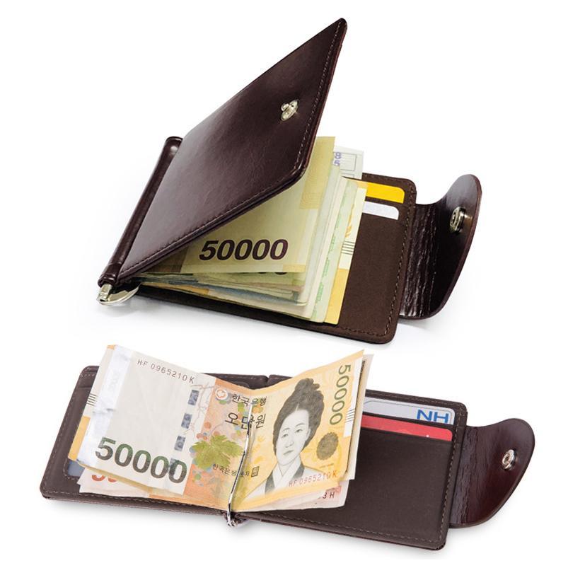 4eee7f493e58 Hasp Metal Bifold Money Clip Clamp Cash Holder Quality Fashion Men ...