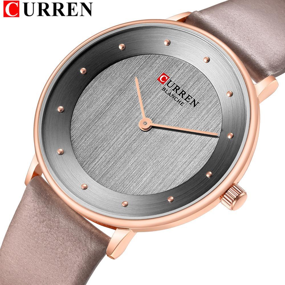 27016e83cb15 Красивые женские кварцевые часы тонкий мода кожа дамы наручные часы Reloj  Mujer CURREN ...