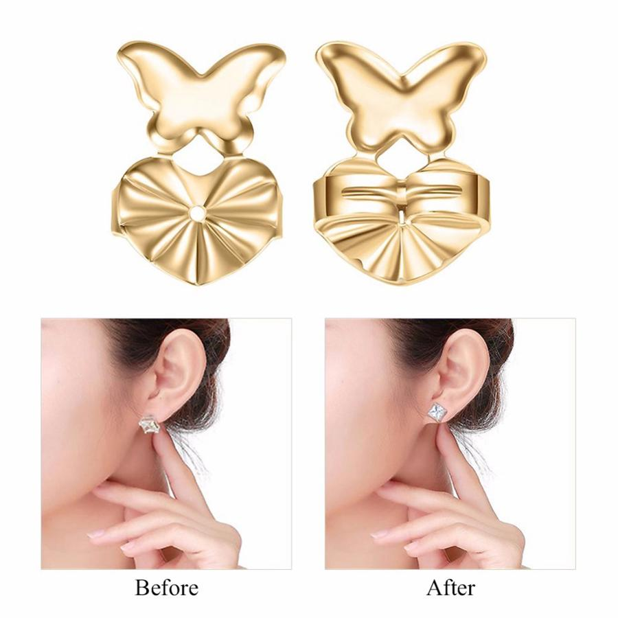 Fashion Magic Backs Support Earring Creative Woman Bax Earring Backs Lifts Se adapta a todos los pendientes Post Lady Jewelry Accessories