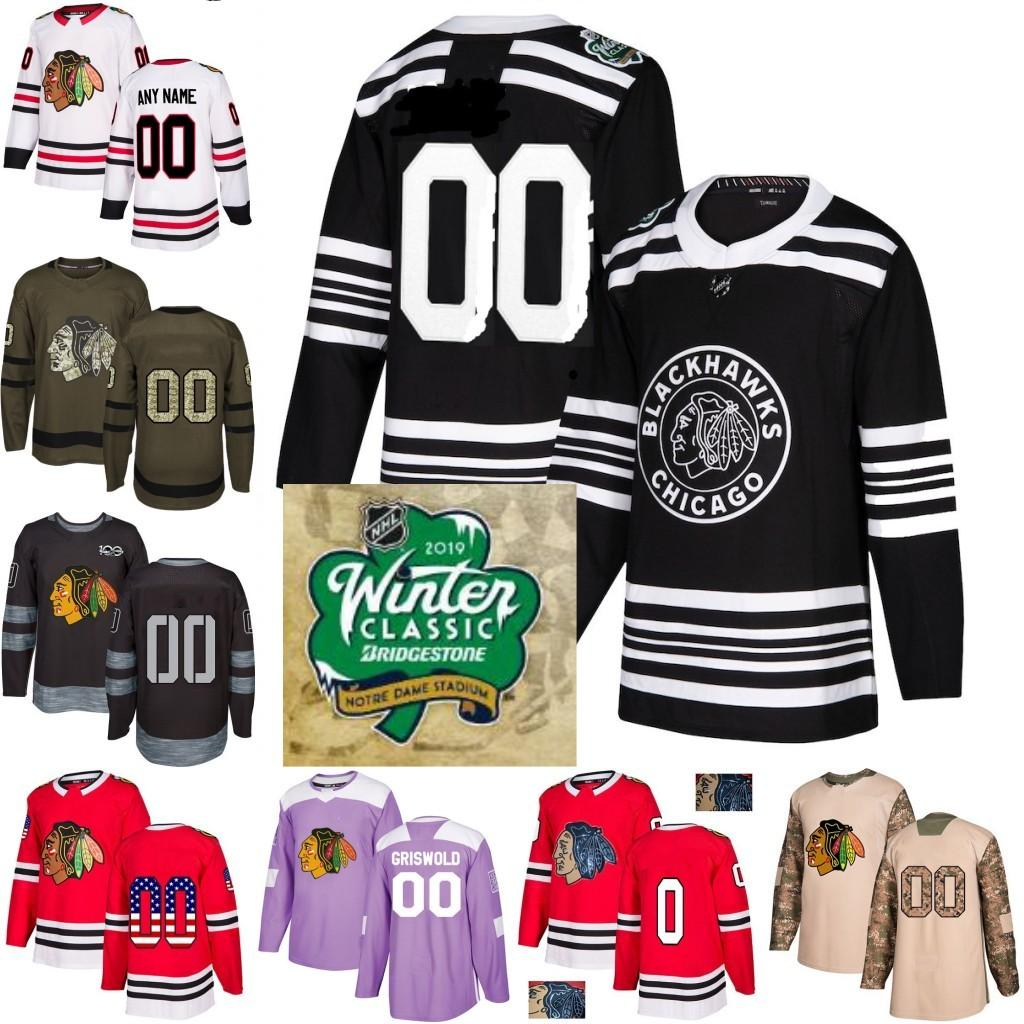 b5b1a9520 2019 2019 Winter Classic Custom Chicago Blackhawks Men Women Youth 88  Patrick Kane 19 Jonathan Toews Corey Crawford Hockey Jersey Stitched From  Trade_2018, ...