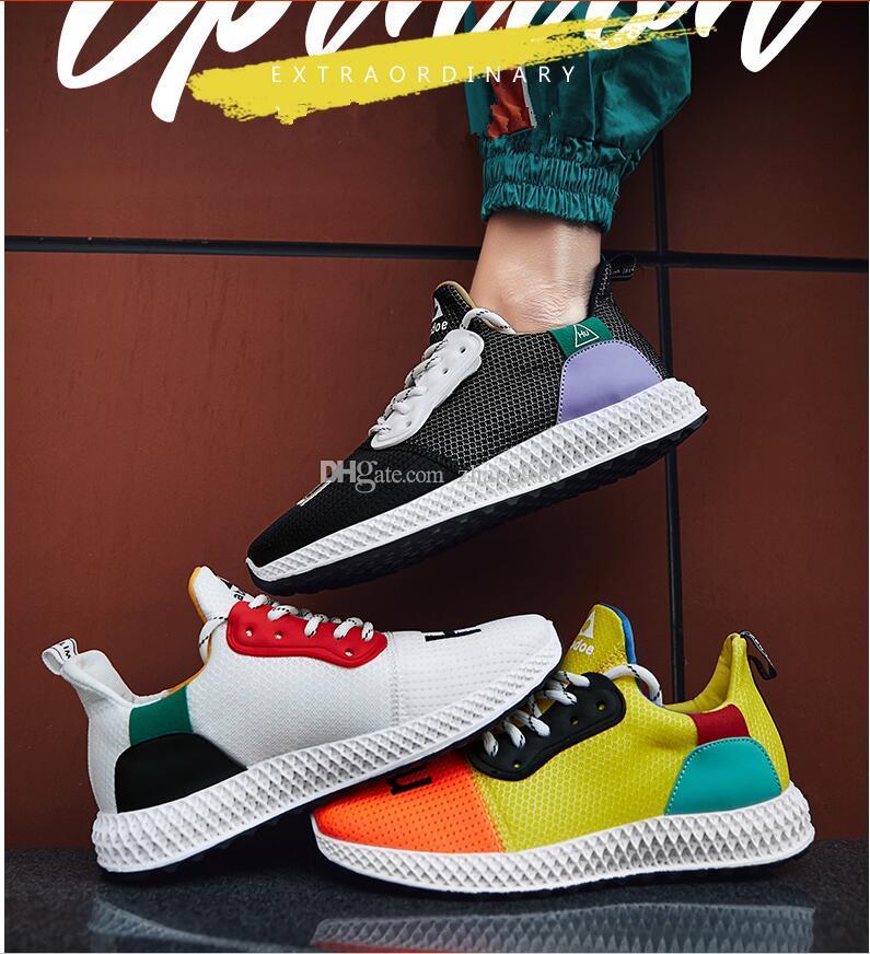 ddcd695d54 Compre Amazon Primavera E Verão 2019 New Flying Weave Calçados Esportivos  Chao Moda Masculina Sapatos De Corrida Net Red Chao Shoes Color  Branco