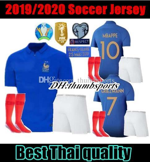 cheap for discount d84a9 92a1c Adult kit Franchsc 1919-2019 Special Editio POGBA soccer jersey Frances  GRIEZMANN Mbappe Football shirts 19 20 Francia maillots de foot