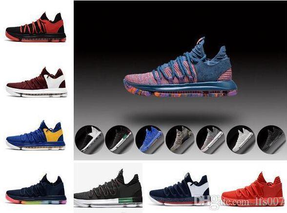 san francisco 9c6e7 0fc6f Zoom Kevin Durant KD 10 Elite KDX Opening Peach Jam PK80 Red Velvet Triple  Black Wolf Gray Men top Shoes Sports Sneakers