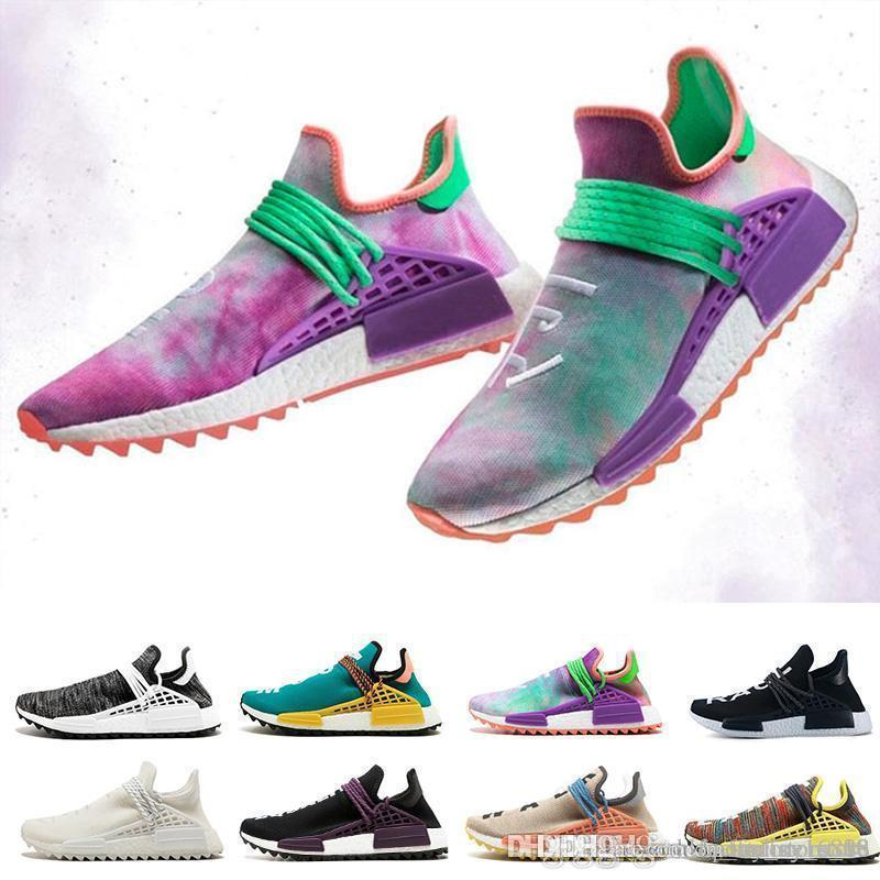 fdf73daa2bcaa Cheap Human Race Running Shoes Pharrell Williams Hu Trail Cream Core Black  Nerd Equality Holi Nobel Ink Trainers Mens Women Athletic Shoes Shoes Uk  Pumps ...