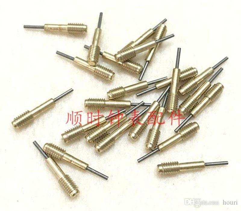 100 pc / Lunghezza: 1,6 centimetri di alta qualità cinghia demolizione riparazione metallo ricambio Punch di rimozione di Pin di riparazione dei corredi della vigilanza punzone pin 0,8 millimetri
