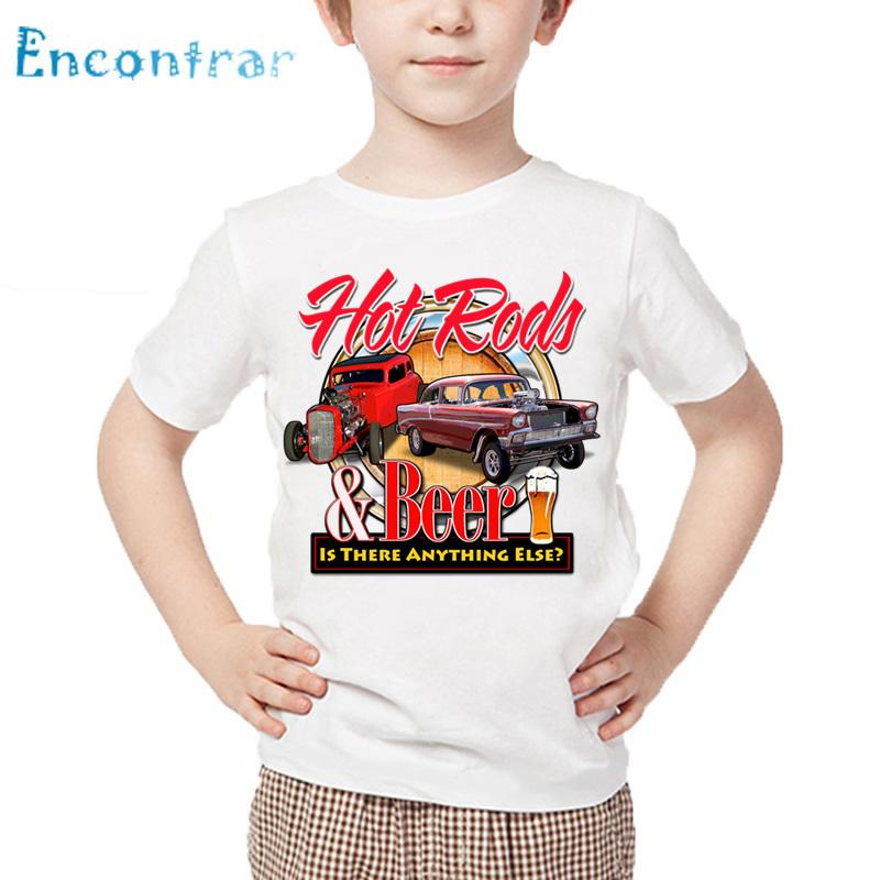 b1435355b 2019 Kids Rat Rod School Classic Muscle Car Print Funny T Shirt Children  Summer White Tops Boys And Girls Casual T Shirt,HKP789 From Textgoods07, ...