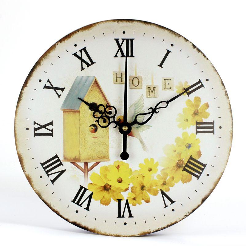 da5f33341df2 Compre Reloj De Pared Para Habitaciones De Niños Diseño Silencioso Vintage  Cocina Duradera Oficina Sala De Estar Retro Reloj Sin Marco Relojes De Pared  A ...