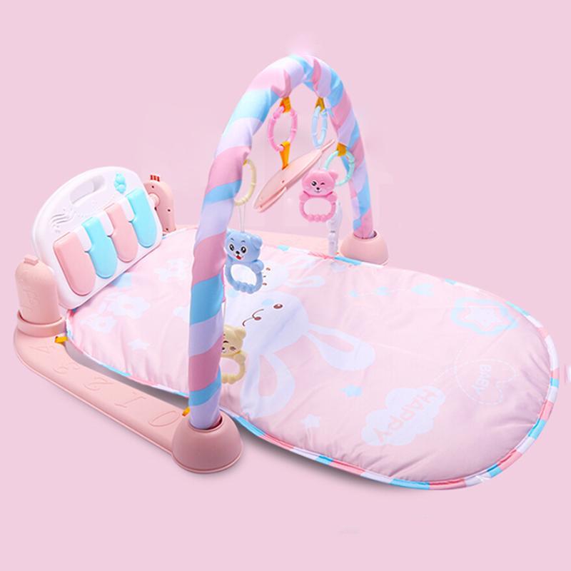 Hot Sale bebê jogo Mat bebê GymToys 0-12 meses iluminação suave chocalhos Musical brinquedos para bebês Brinquedos tocar piano Ginásio