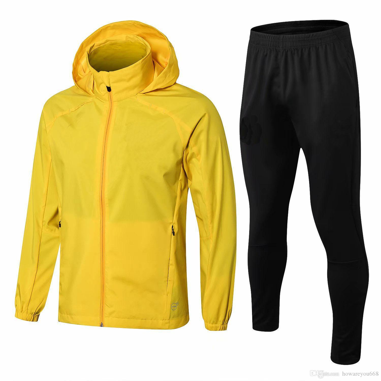 2019 Men Kit 2018 Borussia Dortmund Training Suit Jerseys 2018 2019  Borussia Aubameyang Reus Windbreaker Long Sleeve Jacket Coat Soccer Jerseys  From ... da0836f55