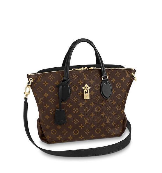 6a511a419d92 2019 M44347 Flower Zipped Tote MM WOMEN HANDBAGS ICONIC BAGS TOP HANDLES  SHOULDER BAGS TOTES CROSS BODY BAG CLUTCHES EVENING White Handbags Satchel  Handbags ...