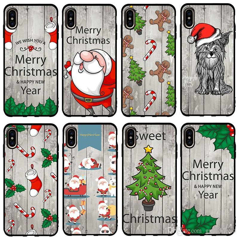 Merry Christmas Happy New Year Gifts Soft Tpu Rubber Silicone