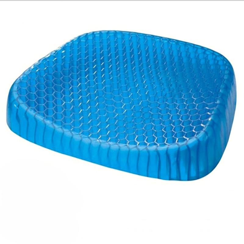 Flexible Gel Seat Cushion Breathable Comfortable Car Cushion For Sofa Cervical Health Care Pain Release Pad Home Decoration
