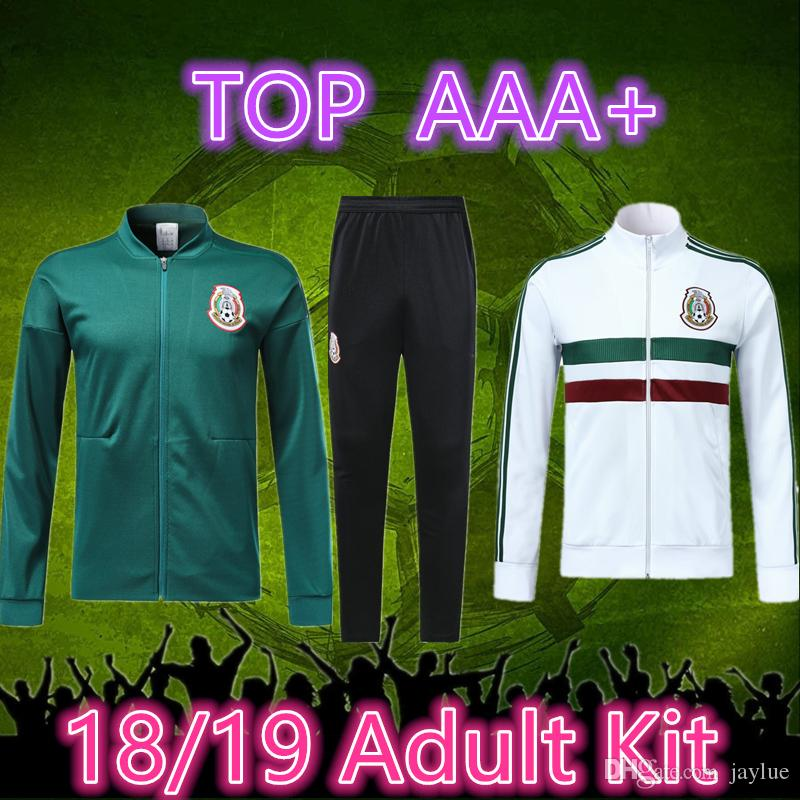 dd40bd650 2019 18 19 Mexico Soccer Jacket Tracksuit 2018 World Cup Mexico Tracksuit  CHICHARITO National Team Football Jacket Sportswear Set Maillot De Foot  From ...