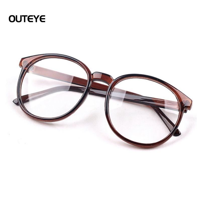 c16a434cb9 2019 Vintage Round Plain Transparent Mirror Frame Men Women Clear Lens  Glasses Computer Eyeglasses Frame Anti Fatigue Goggles Eyewear From  Taihangshan