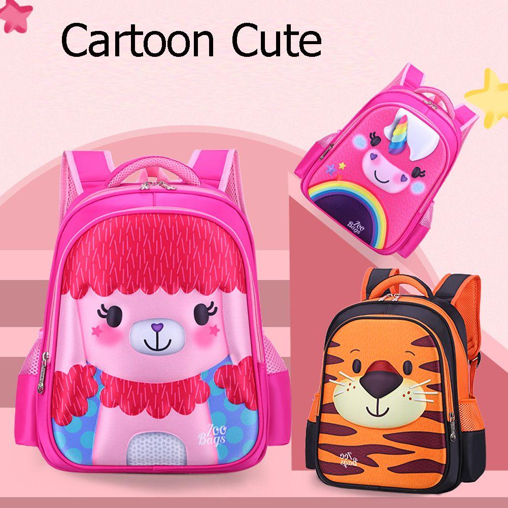 Enfriar Mochila niño de los niños Kids School animal de la historieta bolsa para las muchachas del muchacho de la mochila Mochila Nueva Bookbag