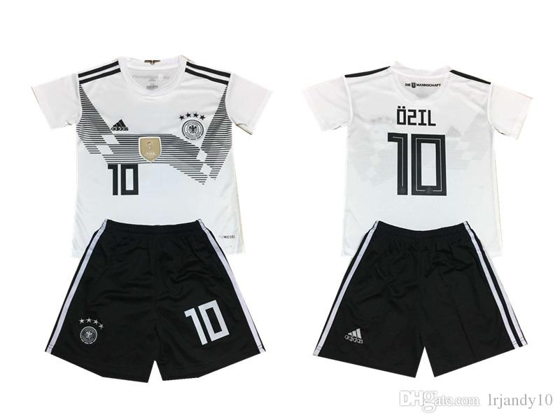 timeless design bcc1f f98a6 Germany Jersey 2018 World Cup Soccer 13 MULLER 23 GOMEZ 10 OZIL 11 REUS  Football Shirt Kits National Team with sock
