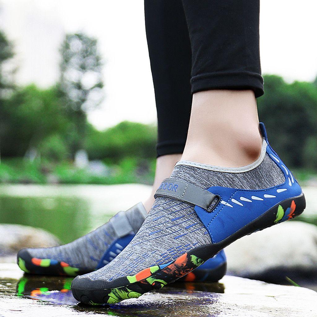 722801423e Compre MUQGEW Verano Casual Hombres Zapatos De Agua Planos Piscina Playa  Swim Slip On Creek Zapatos De Buceo Recién Llegados Mezclar Pisos Pisos  Hombres A ...