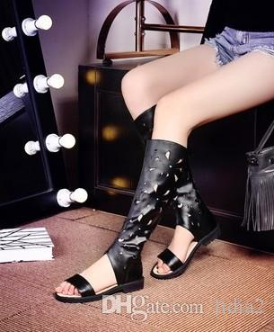 12b9874720f4 New Arrival Hot Sale Specials Super Fashion Influx Knight Summer Leather Peep  Toe Flowers Hollow Net Noble Casual Sandals EU34 43 Blue Shoes Cheap Sandals  ...