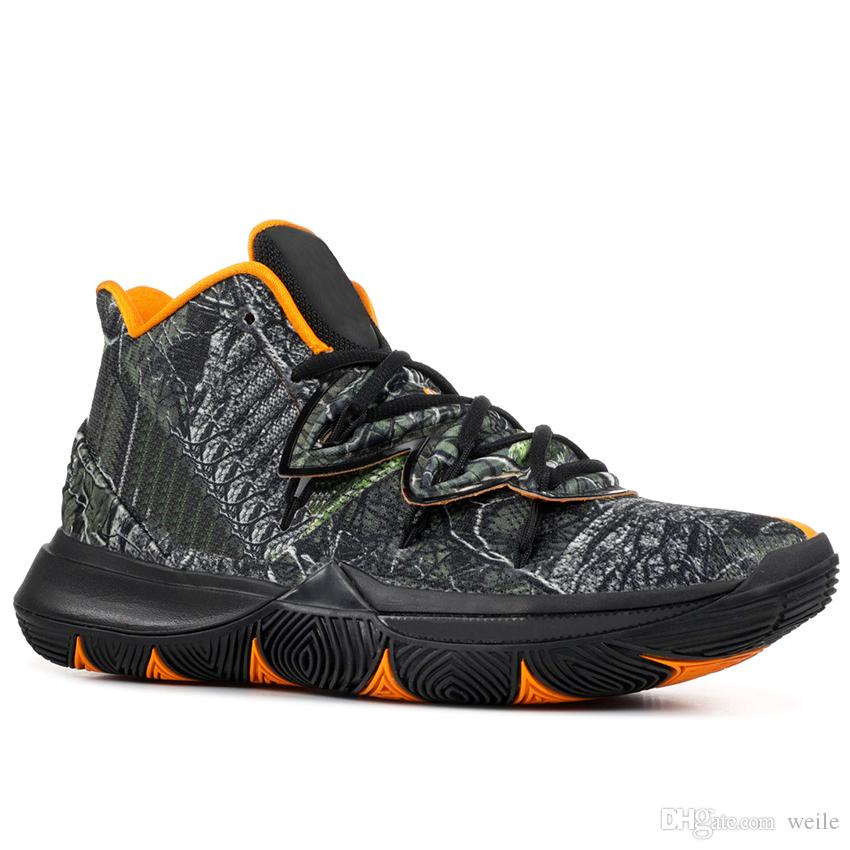 the latest b77d5 924a2 Acheter 2019 Kyrie Hommes 5 Chaussures De Basket Irving 5s Sneakers Sport Chaussure  Homme Wolf Gris Team Rouge Rouge Magie Zoom Turbo Vert Blanc Baskets De ...