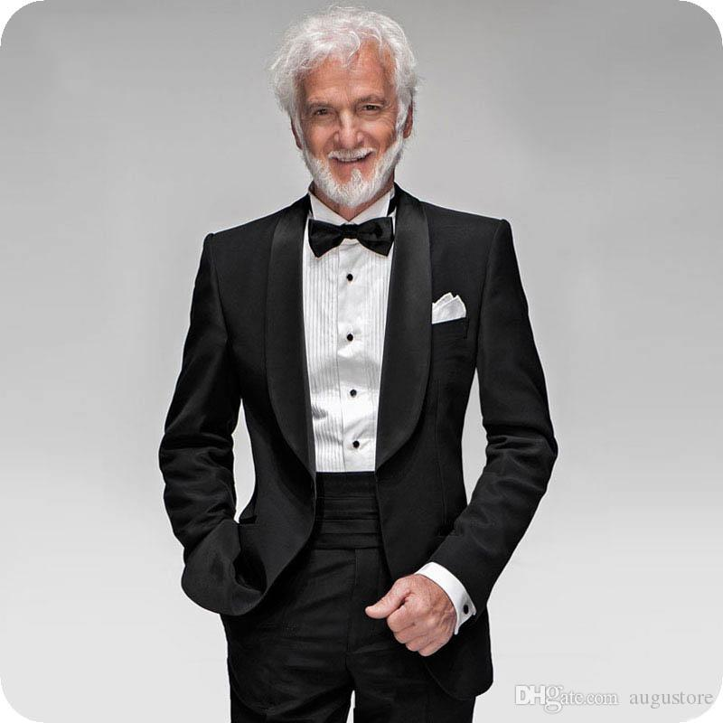 Shawl Lapel Formal Black Man Blazer Groom Tuxedo Men Suits for Wedding Man Jacket 2Piece(Coat+Pants)Slim Terno Masculino Trajes de hombre