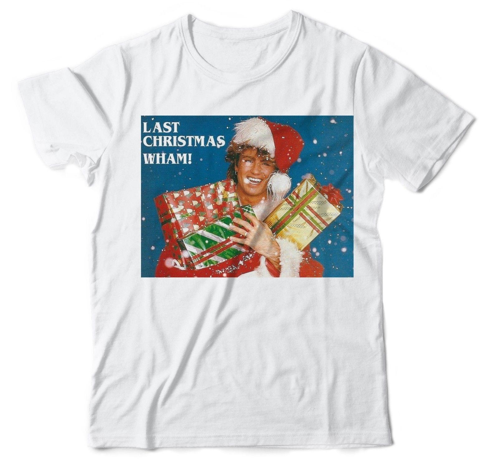 b9098964587d Wham Last Christmas George Micheal Xmas Songs Unisex Cotton T Shirt ...