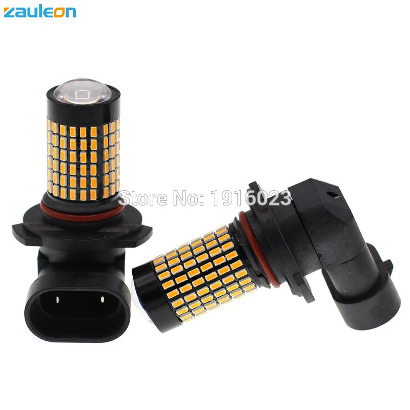 Zauleon 2pcs 9005 9011 HB3 693 lumens Amber Yellow LED For Fog Lamp LED Day light DRL Lamp with 132SMD 3014 Car-Styling