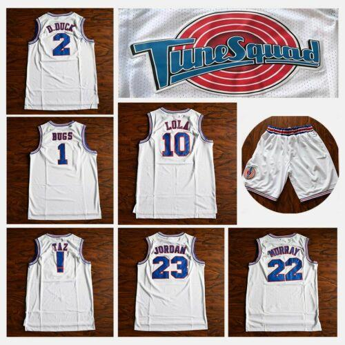 wholesale Movie 23 Michael 1 Bugs Bunny Jersey ! Taz 1/3 Tweety Space Jam Tune Squad 22 Bill Murray 10 Lola 2 D.DUCK Basketball Jerseys Mens