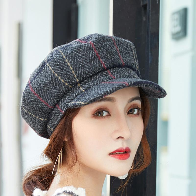 Autumn Korean Fashion Newsboy Hat Restore Ancient Ways Joker Ma Am Peaked  Cap England Style Grain Woolen Service Cap UK 2019 From Ericgordon 551d553793b