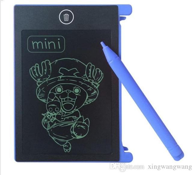 TOP أفضل 4.4 بوصة LCD الكتابة اللوحي مجلس الكتابة اليدوية وسادات للحصول على هدايا للأطفال الأطفال الرسم للأطفال الرسم اللوازم التدريس