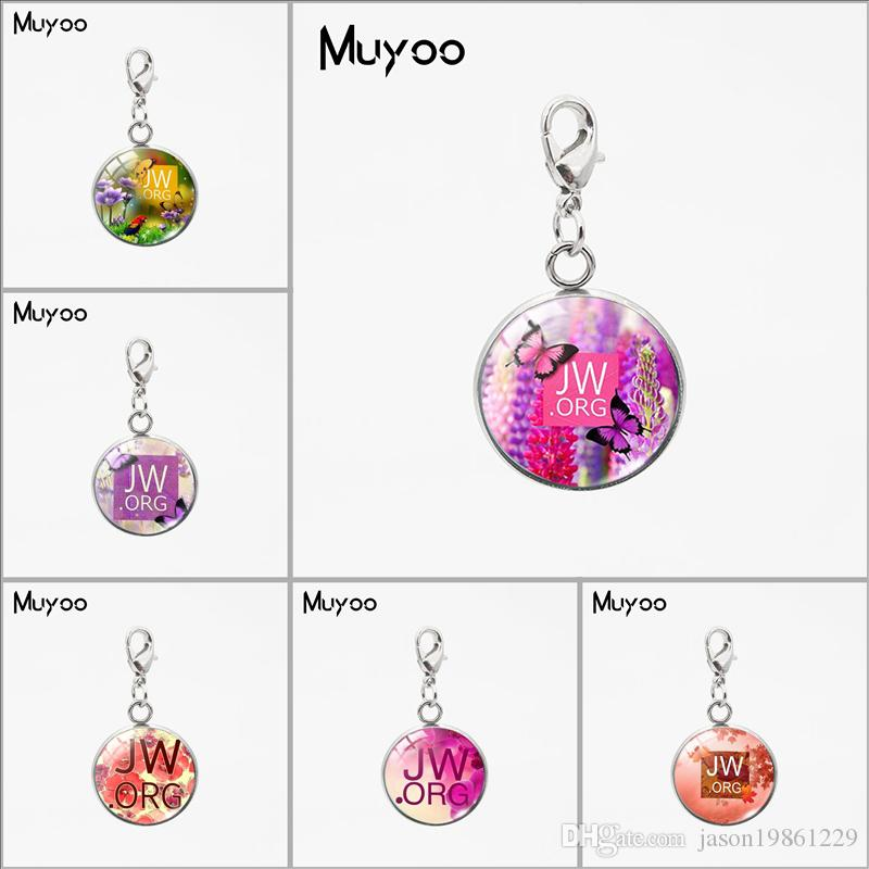 2019 Beauty Flower Jworg Signs Round Glass Dome Charms Jehovah