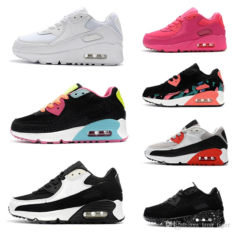 006cd41f1 Compre Nike Air Max 90 Zapatos De Baloncesto Para Niños Baratos Niños Niñas  13 XIII Zapatillas De Deporte Para Bebés Deportes Para Niños Zapatillas De  ...