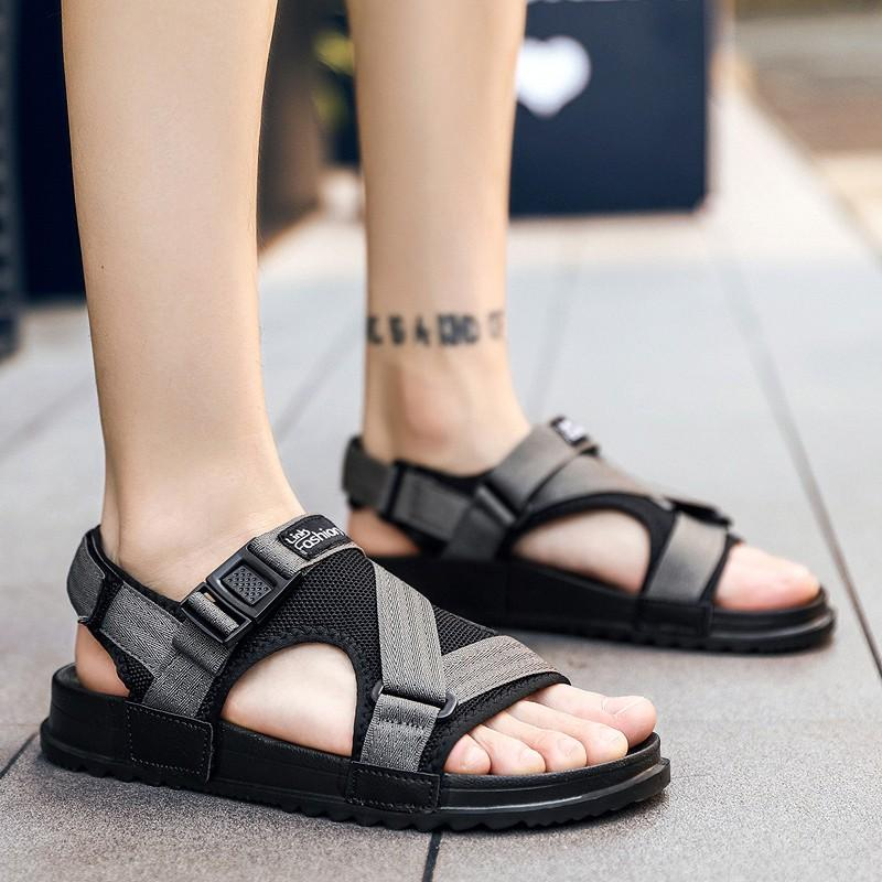 5e1cedf0e8c2 Fashion Man Beach Sandals 2018 Summer Gladiator Men S Outdoor Shoes Roman  Men Casual Shoe Flip Flops Large Size 46 Slippers Flat Bamboo Shoes High  Heels ...