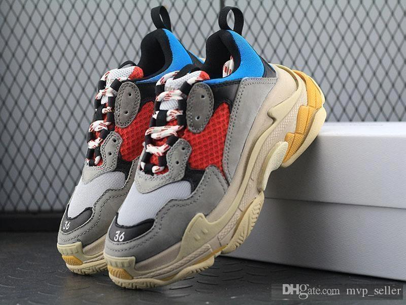 9ad5d829f Newest BL Triple S 17FW Sneakers For Men Women Running Shoes Vintage Kanye  West Old Grandpa Trainer Sneaker Fashion Shoe Outdoor Boots Trainers Shoes  Woman ...