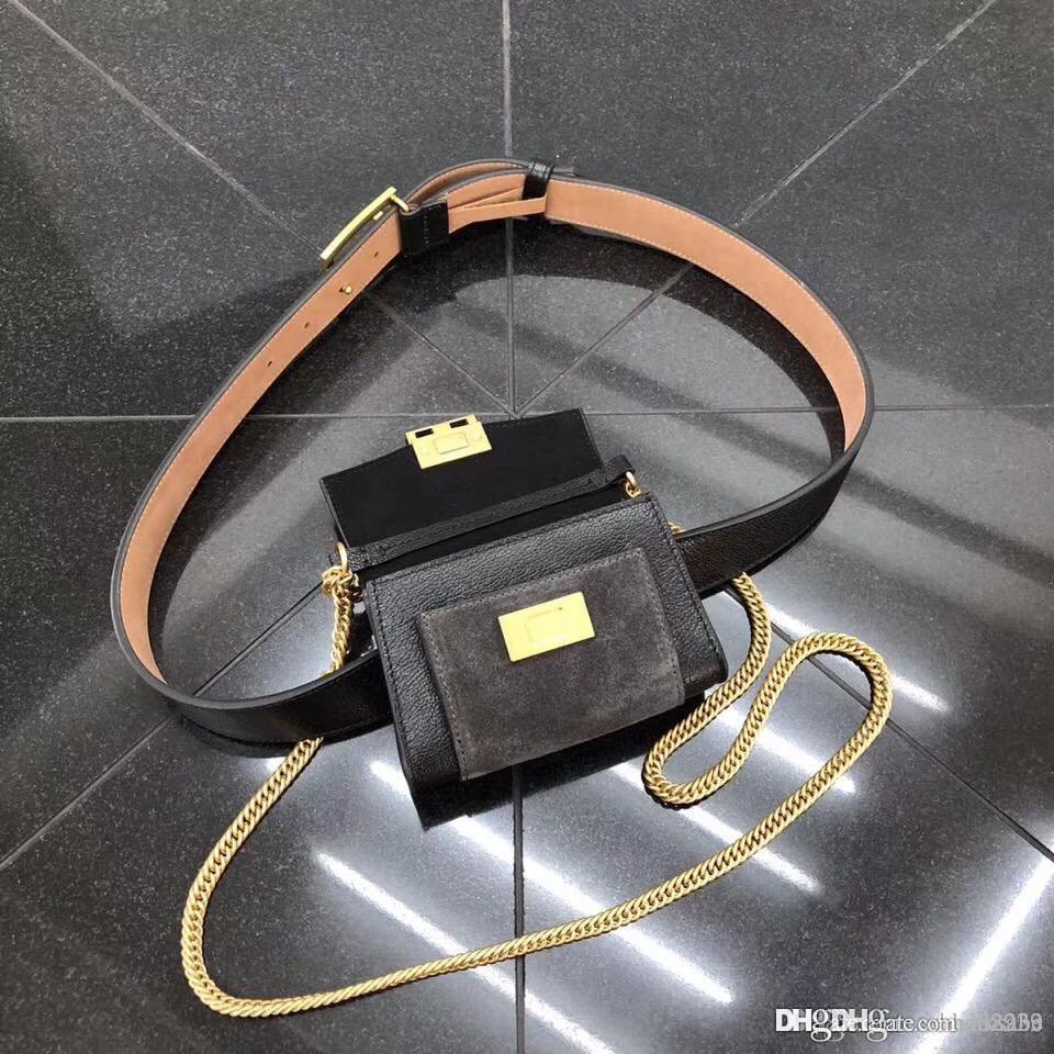 Women Best 7A+Quality Waist Chain Belt Bag Classic Messenger Bag Vintage  Ladies Mini Shoulder Bags Genuine Leather Cowhide Handbags 23390 Satchel  Bags ... 05a53bdc45