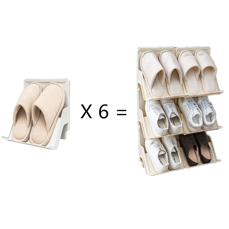 Durable Adjustable Shoe Organizer Footwear Support Slot Space Saving Cabinet Closet Stand Shoes Storage Rack Shoebox