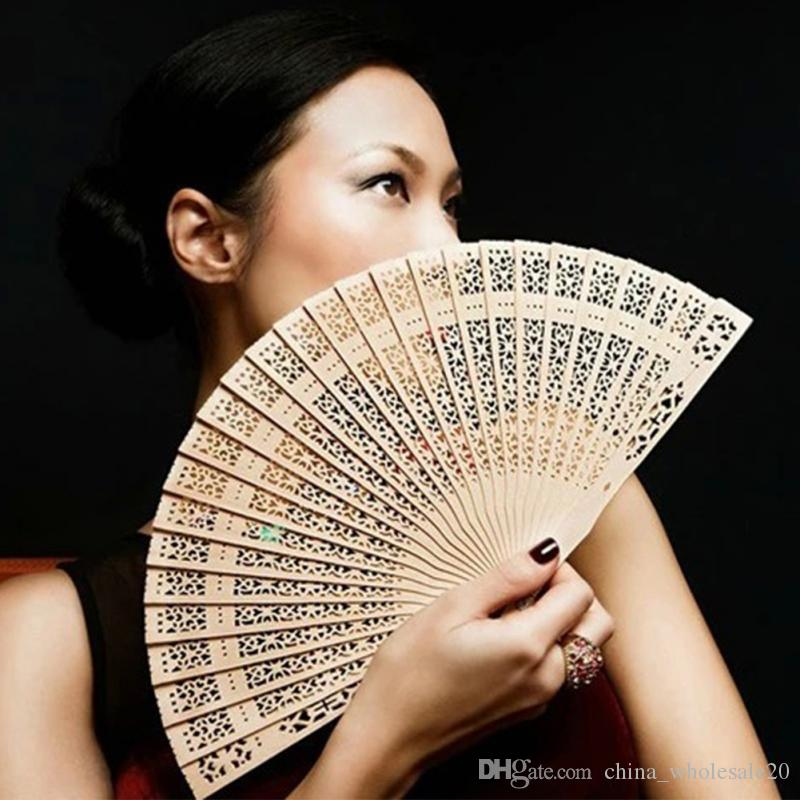 Chinese Japanese Folding Fan Original Wooden Hand Flower Bamboo Pocket Fan for Home Decor Decoracion Fiestas