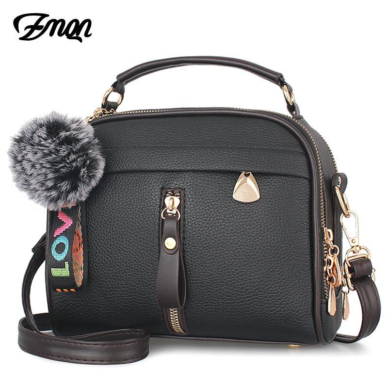 7ca4263fe Compre Zmqn Crossbody Sacos Para As Mulheres 2018 Pu Bolsa De Couro  Senhoras Sac Ombro Messenger Bags Mulheres Barato Pequeno Bolsa Feminina  Mujer A328 ...