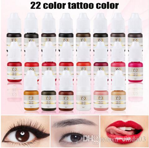 Semi Permanent Makeup Eyebrow Inks Lips Eye Line Tattoo Color ...