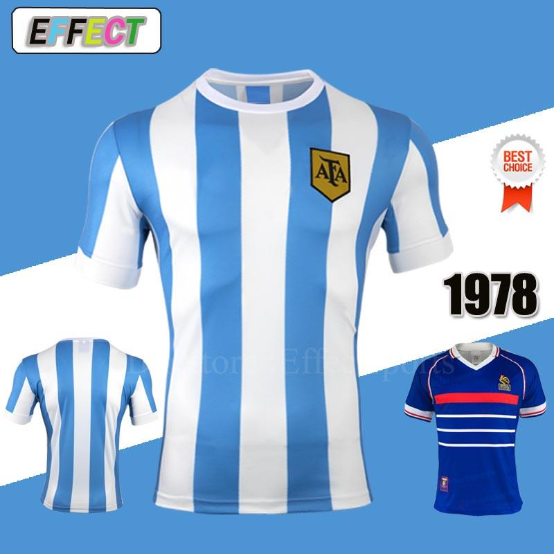 3e952f79a18 Retro 1978 Argentina World Cup Maradona Home Soccer Jerseys Retro Version  78 Maradona Messi CANIGGIA Quality Football Shirt Batistuta XXL Retro  Argentina ...